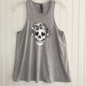 Betsy Johnson grey tank top SIZE S